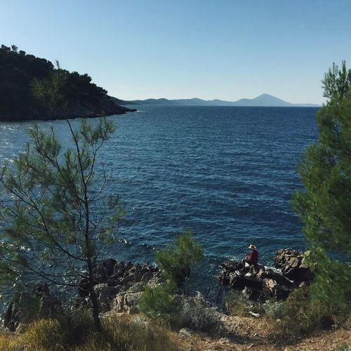 """""""Fisherman"""", Veli Losinj, Croatia, 2016. Veli Lošinj Croatia Fisherman Fishing Cove Water Tranquility Scenics Vacations Beauty In Nature Tourist Idyllic Solitude Remote Relaxation"""