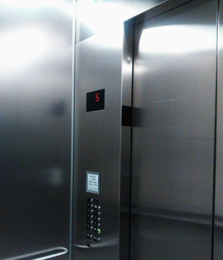 The 5th floor Elevator Stainless Steel  Buttons