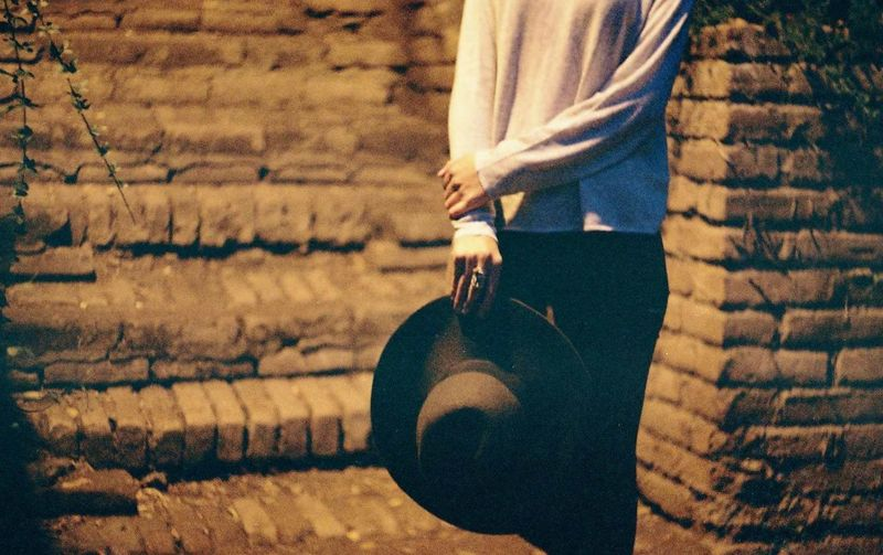 Film Film Photography Filmisnotdead Analogue Photography Night Hat Style Fashion Human Hand Close-up Wearing Woolen