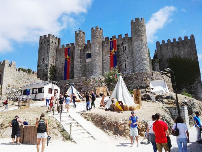 Architecture Travel Destinations Large Group Of People Sky Outdoors Óbidos  Medieval Castle