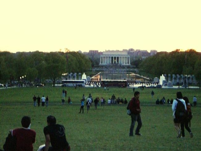Sunset National Mall Monument Memorial DC U.S. Capitol