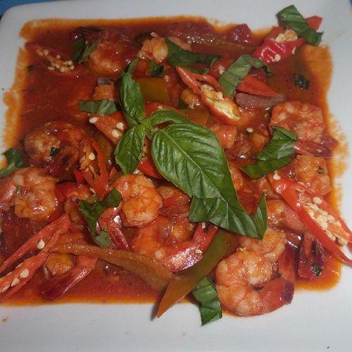 Spicy Shrimp.. first meal Datemode Tomjones VacayMode Boracay