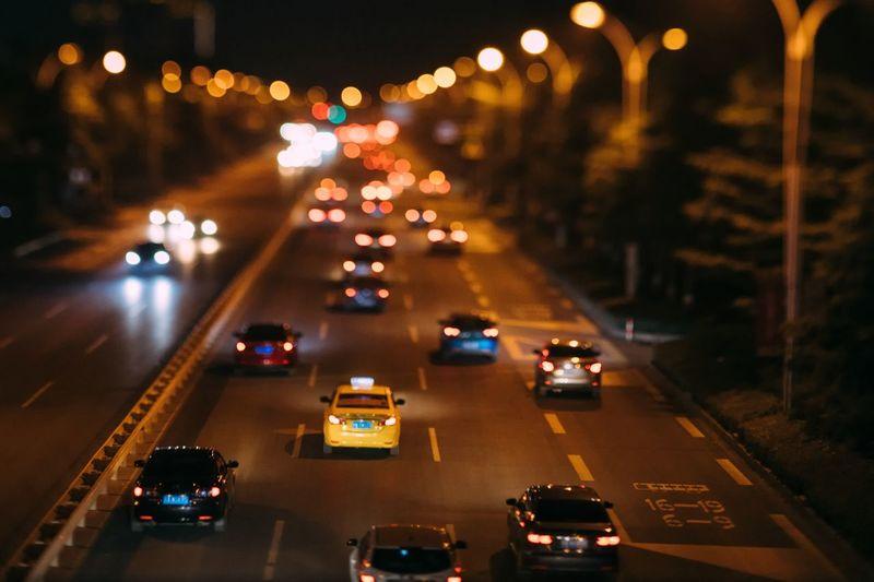 Car Night Motor