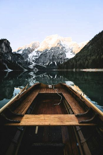 Lost In The Landscape Water Mountain Lake Outdoors No People Day Vacations Adventure Nature Nautical Vessel Sky Lake View Beauty In Nature Boatinglife Ice Mountain