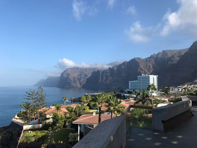 Los gigantes Architecture Built Structure Sky Building Exterior Sea Mountain Day Water Roof Cloud - Sky Beauty In Nature Scenics No People Nature Mountain Range Outdoors High Angle View Terrace Horizon Over Water Cityscape