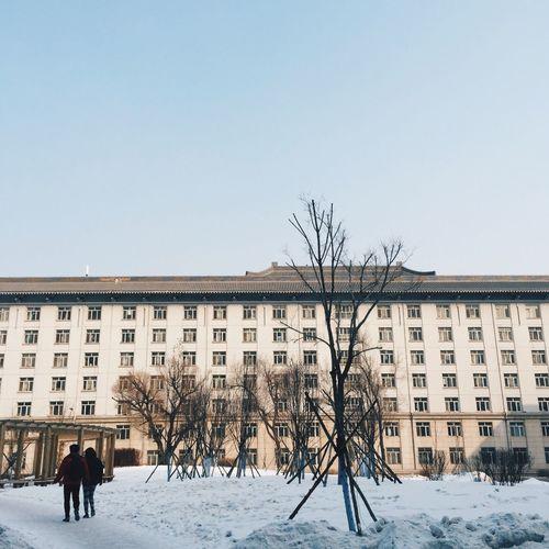 04-03-15 Dormitory University Winter Snowy Snow Covered VSCO Vscocam Harbin China 哈尔滨 中国