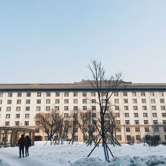 04-03-15 Dormitory University Winter Snowy Snow Covered VSCO Vscocam Harbin China 哈尔滨 中国