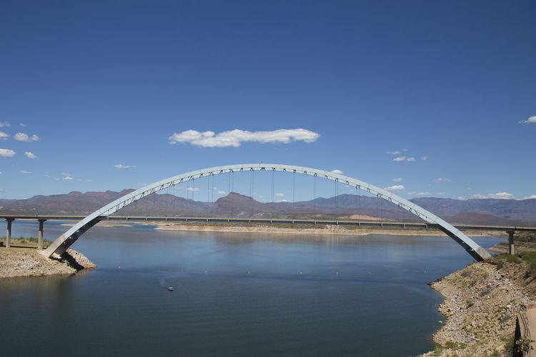 Bridge Bridge - Man Made Structure Lake Roosevelt Lakeview Roosevelt Bridge Senic