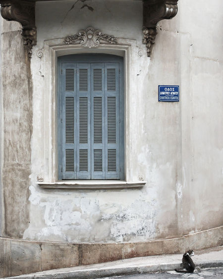 EyeEm Best Shots EyeEm Selects EyeEm Gallery EyeEmNewHere The Week on EyeEm Travel Photography Architecture Athens Building Built Structure Closed Day Door Greece House Outdoors Sign Text Travel Destinations Wall Wall - Building Feature Weathered Window The Traveler - 2018 EyeEm Awards