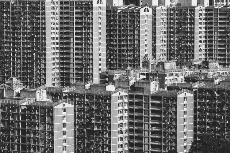 Architecture Black And White Blackandwhite Bnw_captures Built Structure Cityscapes EyeEm Best Shots HongKong Light And Shadow Lines And Shapes No People Outdoors Shadow