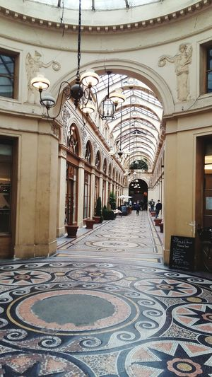 Galerie Vivienne, covered passage in Paris Covered Passage Arch Architecture Canopy Cupola History Tourist Destination Mosaic Perspective EyeEmNewHere The Week On EyeEm Sculpture Chandelier