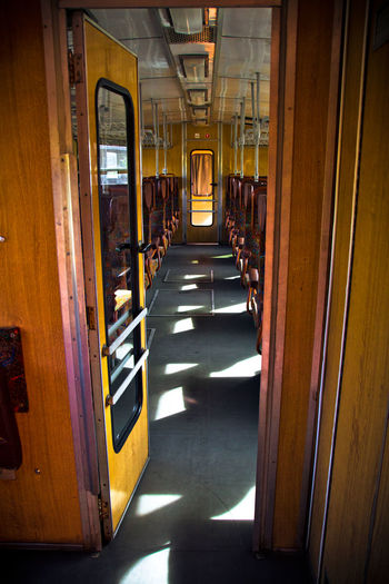 Architecture Built Structure Day Hungary Illuminated Indoors  Real People Retro The Way Forward Train - Vehicle Vintage