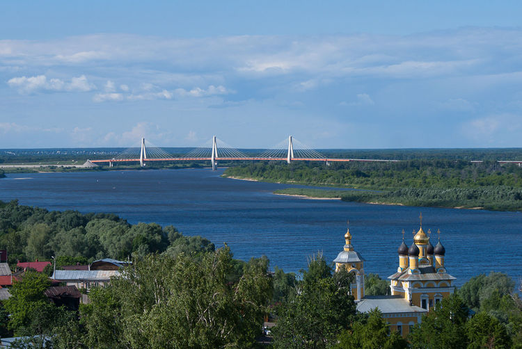 Oka river. Russia. Murom. Bridge. Church City Built Structure Building Architecture Outdoors Cloud - Sky Sky Day Travel Turism Water River Oka Bridge Blue Travel Destinations Church Cityscape Russia Murom The Great Outdoors - 2019 EyeEm Awards