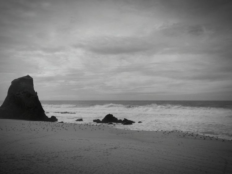 Grey Day!!! Black And White Black And White Collection  Bnw_portugal Landscape Melancholic Landscapes Tadaa Community Taking Photos Eyemblackandwhite Sea_collection How's The Weather Today?