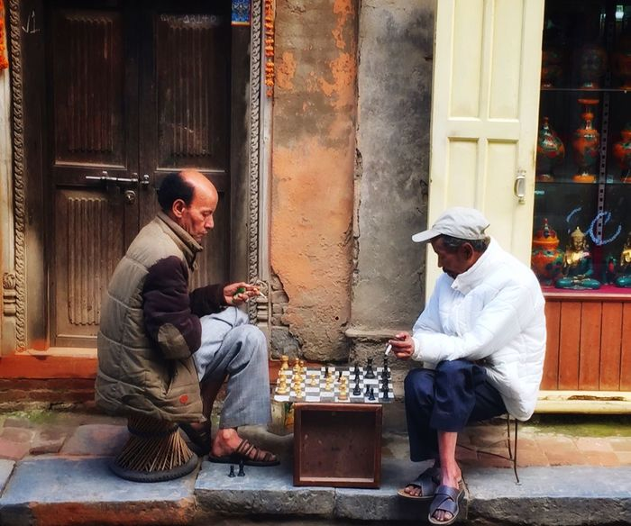 Chess game Travel Shanti Streetart Simple Things Simple Things In Life Simple Life Everyday Life Streetgames Game Nepal Street Life Streetphotography Sitting Two People Mature Adult Adult Outdoors EyeEmNewHere Men City People Real People