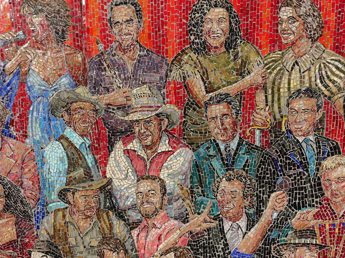 Melbourne Street Art History Mural Group Of People The Past Adult Human Representation Males  Men Architecture Mature Adult Art And Craft Representation Male Likeness Mature Men People Religion Indoors  Ancient Paint