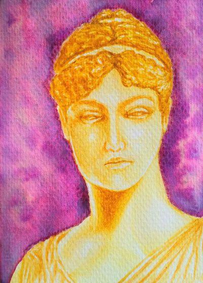 done. Watercolor Portrait Greek Lateupload.