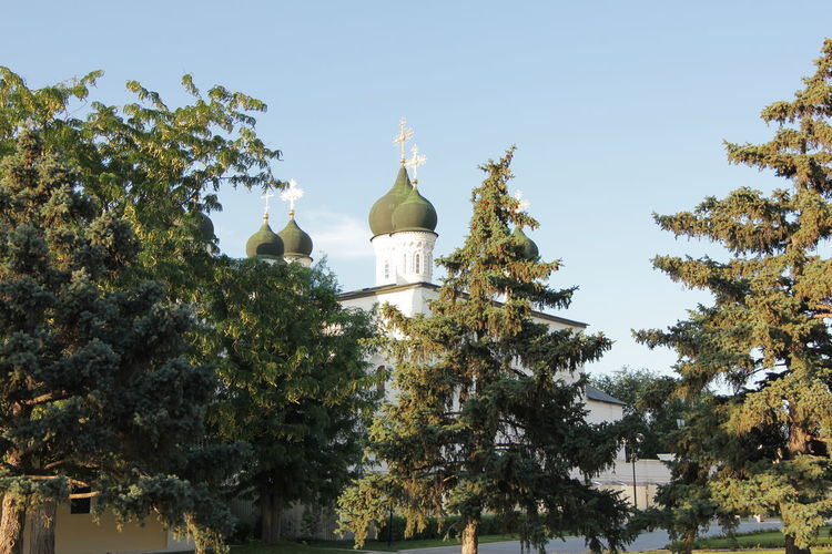 Orthodox church on the territory of the Kremlin. Tree Plant Sky No People Place Of Worship Building Exterior Built Structure Religion Architecture Day Spirituality Nature Belief Low Angle View Building Growth Clear Sky Outdoors Dome Spire  Ortodox Church Church Astrakhan Astrakhan Kremlin Summer