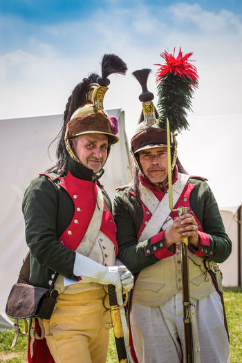 French Troops, re-enactors, Battle of Waterloo June 2019 Portrait Real People Men Adult Front View Clothing History Battle Of Waterloo Soldier Napoleon Travel Destinations Tourism Musket French Army Vivid International Getty Images Eyeem History Sky Looking At Camera Standing Three Quarter Length Smiling Young Men Leisure Activity Lifestyles Young Adult Happiness People Day Nature Togetherness Outdoors Mature Men Warm Clothing Uniform