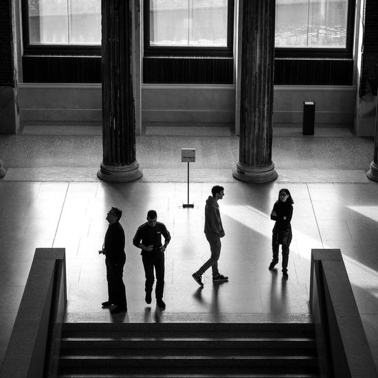 Bw_collection Monochrome Light And Shadow Streetphotography Neues Museum Berlin