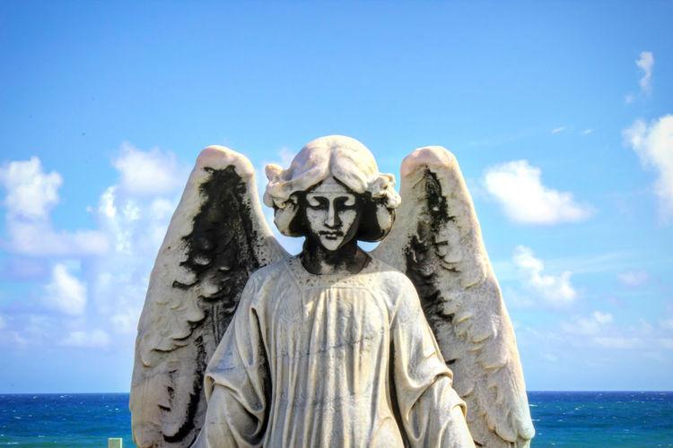 Sky Statue Sculpture Sea Outdoors Cementery Puerto Rico