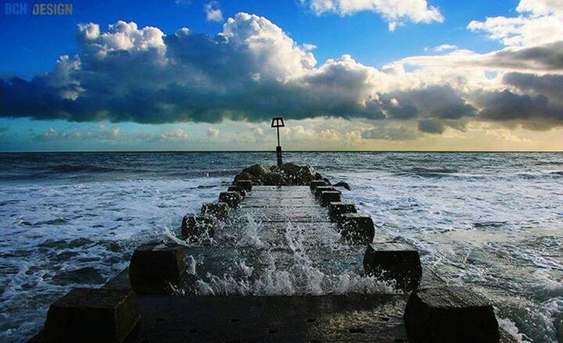 Bournemouth Beach Sea Clouds And Sky Splash Bchdesign