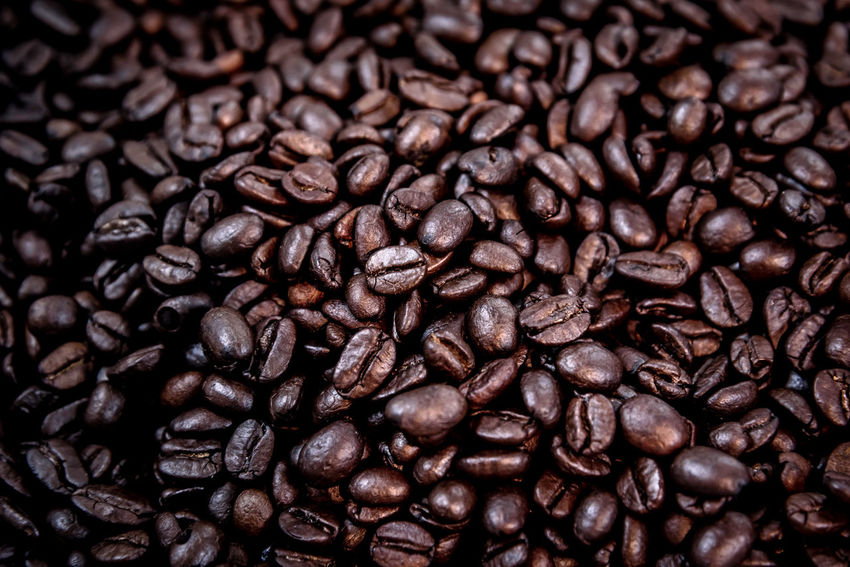 Abundance Backgrounds Brown Cappuccino Close-up Coffee - Drink Coffee Bean Coffee Cup Food Food And Drink Freshness Full Frame Group Of Objects Indoors  Large Group Of Objects Mocha No People Raw Coffee Bean Roasted Roasted Coffee Bean Scented