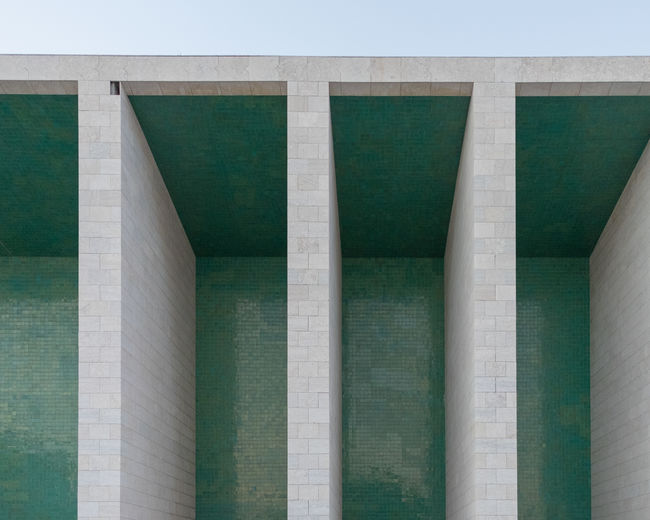 Alvaro Siza EyeEm EyeEm Best Shots EyeEm Selects Architectural Column Architecture Backgrounds Building Building Exterior Built Structure Concrete Day Full Frame Green Color History In A Row Low Angle View Nature No People Outdoors Pattern Repetition Sky The Past Travel Destinations