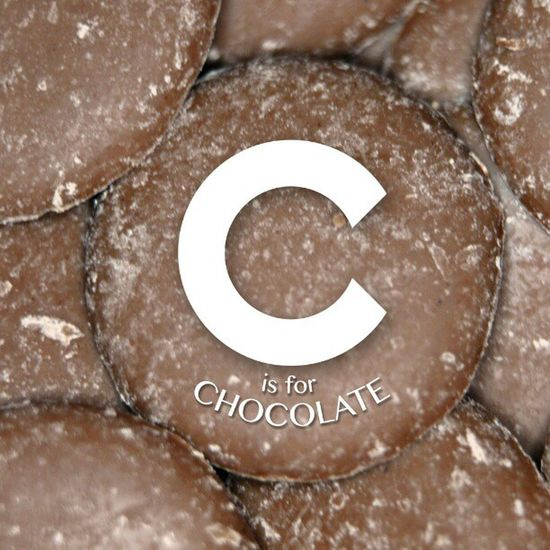 I wasn't overly happy with 'C' so made a new version Alphabetseries Rework Chocolate