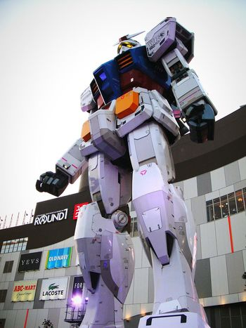 GUNDAM Arts Culture And Entertainment Two People Adult Outdoors Men People Sky Technology Day Only Men Gundam Gundam Model Gundam Build Fighter Gundam Front Tokyo Gundamcollection Tokyo,Japan Tokyo Japan The Week On EyeEm EyeEmNewHere