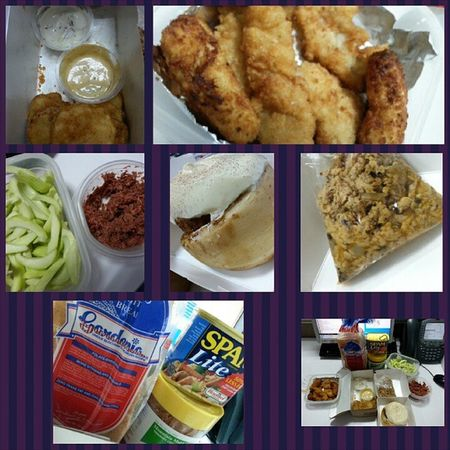 Mojopotato Fishfillet Chickennuggets  Homemade Manggaatbagoong Sautéedsardines Stickycinnamonbun Gluttony Sundaylove Foodporn