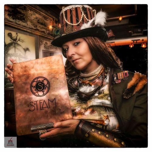 Portrait Fantasy Photography Steampunk Photography Clockwork Carrousel Colorful Fantasy Steampunk Goggles Timetraveler Portrait Of A Woman Steamscheveningen