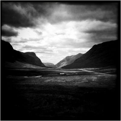 Pictures from Glencoe Valley (Hipstamatic) IV Glencoe Scotland Square Beauty In Nature Cloud - Sky Hipstamatic Landscape Lawoe Mountain Nature No People Scenics Sky Tranquil Scene Tranquility Wilderness