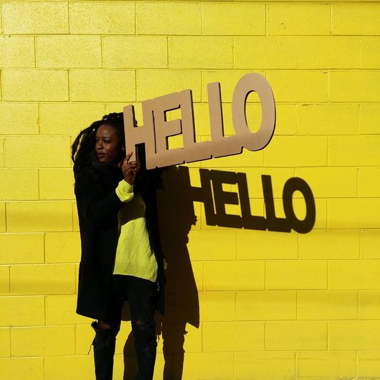 Be. Ready. Hello to new adventures and people I will meet in 2018 Fun Street Photography Minimalism Yellow Color Portrait Colors Streetphotography women around the world Portraits