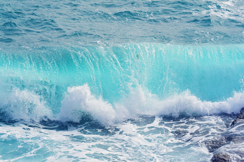 Sea Water Sport Waterfront Beauty In Nature Nature Day Outdoors Turquoise Colored Motion Wave Blue Splashing Aquatic Sport No People Power In Nature Power Swimming Pool Pool Breaking Rolling Wave