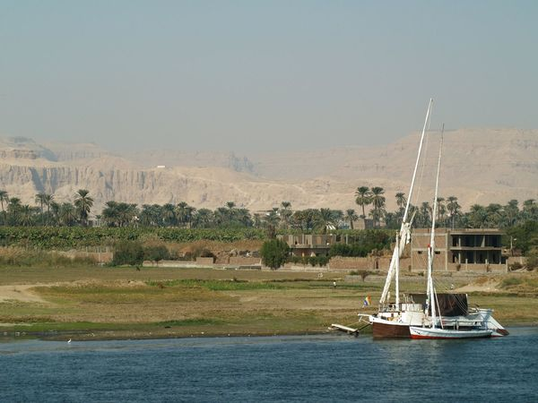 Two sailboats on the Nile⛵⛵ Nile Nile River Nile Boats Boat Trip On The Nile Sailboats Luxor River Collection Egypt Luxor Stone Mountain EyeEm Best Shots Landscape_Collection Traveling Travel Nice View