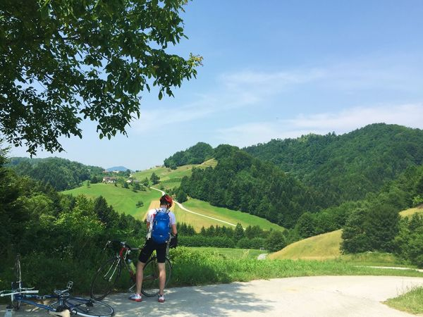 Bike Trip In The Middle Of Nowhere Mountains Green Green Green!  From Vienna To Milan