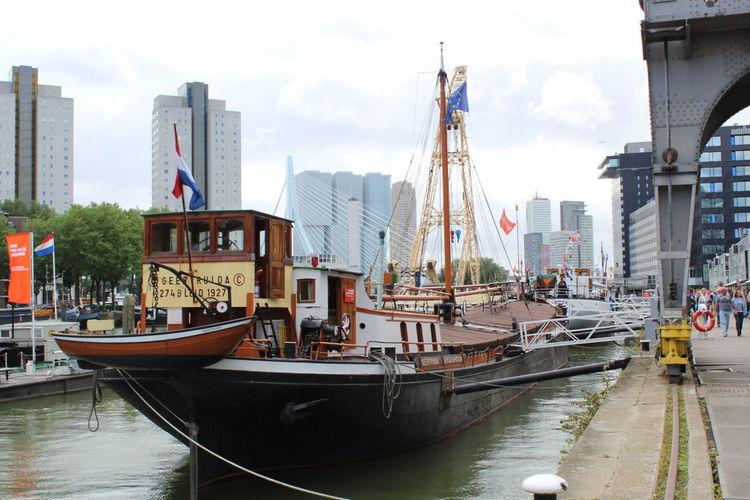 Boats Builings Rotterdam Ship Wereldhavendagen