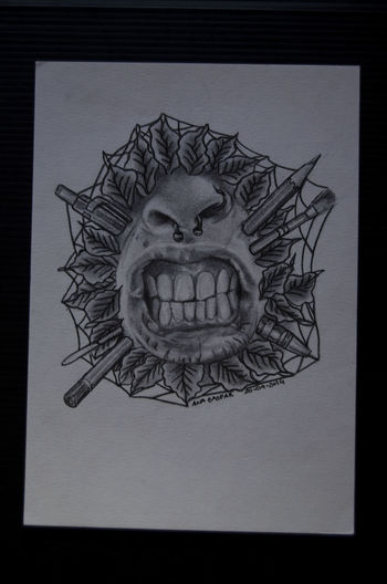 Draw Septum Piercing Mouth