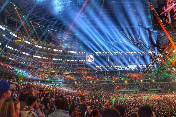 WWE WRESTLEMANIA @ AT&T STADIUM in Arlington Tx Large Group Of People Audience Event Taking Photos Photooftheweek EyeEm Best Shots Cowboysstadium EyeEmNewHere EyeEmNewHere EyeEmNewHere