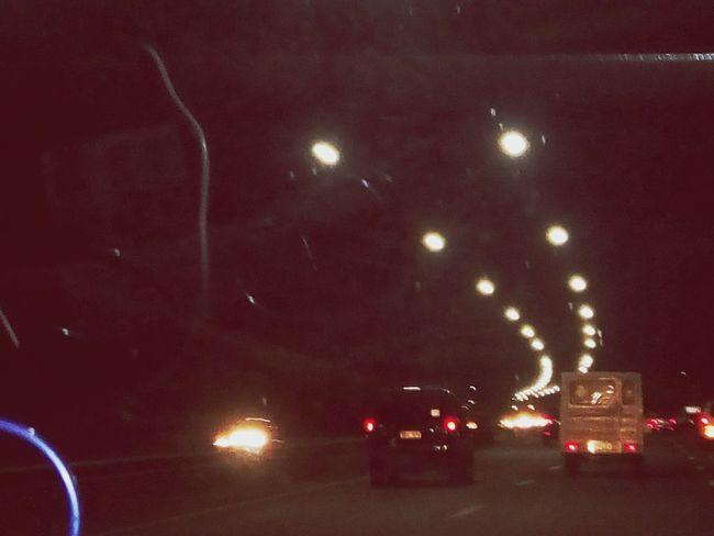 street light drive Night Illuminated No People Red Land Vehicle Outdoors Sky