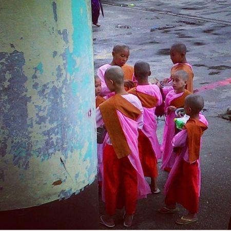 Hangout Little Monks Travelling Myanmar