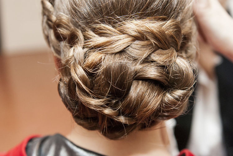 Close-up of woman with stylish hairstyle
