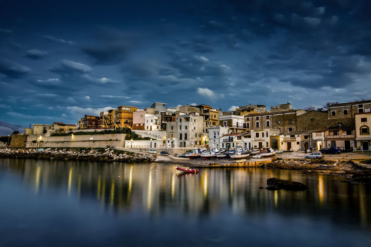 HUAWEI Photo Award: After Dark Sicily Architecture Building Building Exterior Built Structure City Cloud - Sky Day Italy Mode Of Transportation Nature Nautical Vessel No People Outdoors Reflection Residential District River Sky Transportation Water Waterfront