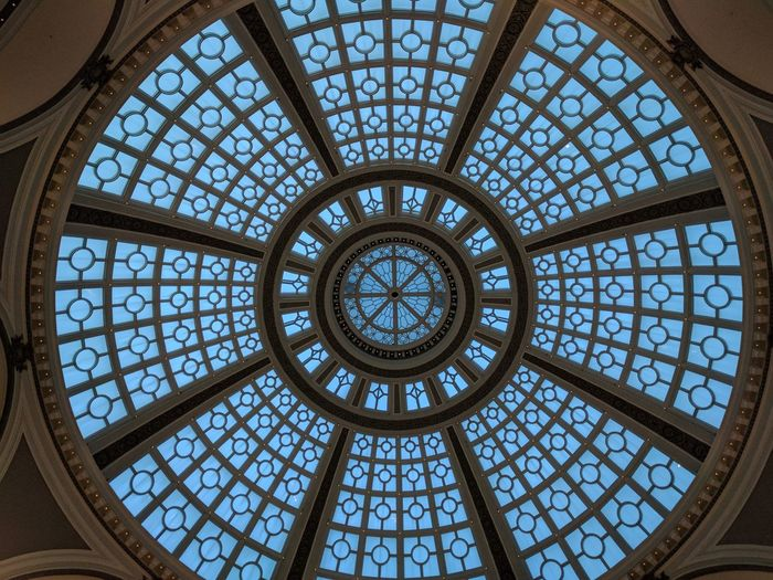 Pattern Architecture Ceiling Geometric Shape Indoors  Skylight Dome Architectural Design Architecture And Art San Francisco From My Point Of View