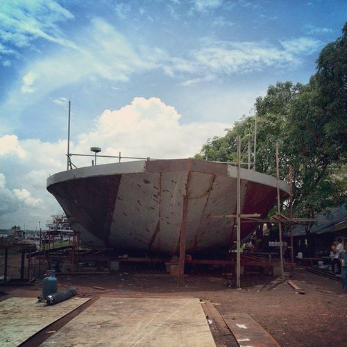 Project - 61m River Cruise Vessel (Code Name - G2), Completion of Hull Structure, Seems like this is my last project at C. Than and Associates Marine Design Firm. RiverCruiser G2 TheinByuShipyard 2014 CTA JuniorNavalArchitect