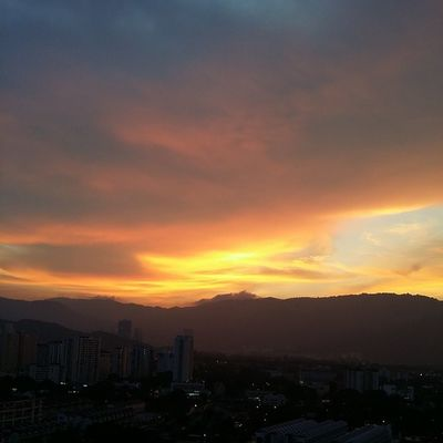The view that greeted me when I got home today... the perks of living in a high-rise... Wonderfulpenang Dusk Nofilter