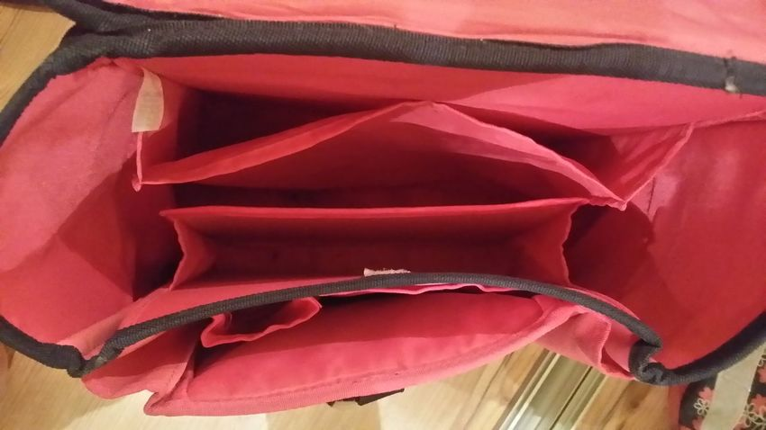 Backpack Red Close-up No People Indoors  Child's Bag 1st Grade Day Plastic Hole Enough Room Separated Looking In Empty Lieblingsteil