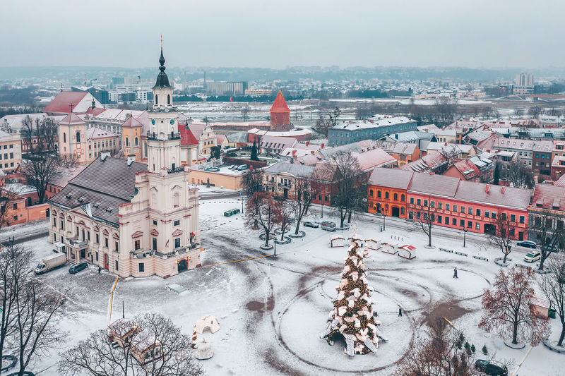 Kaunas old town, winter kaunas City europe Lietuva mavic 2 Mavic 2 Pro aerial view aerial Drone DJI x Eyeem Winter kaunas old town snow white christmas tree Kaunas City Europe Lietuva Mavic 2 Mavic 2 Pro Aerial View Aerial Drone  DJI X Eyeem Winter Kaunas Old Town Snow White Xmas Tree Architecture Built Structure Building Exterior Cold Temperature Building High Angle View Nature Residential District Cityscape Day Sky Town Travel Destinations Outdoors No People TOWNSCAPE