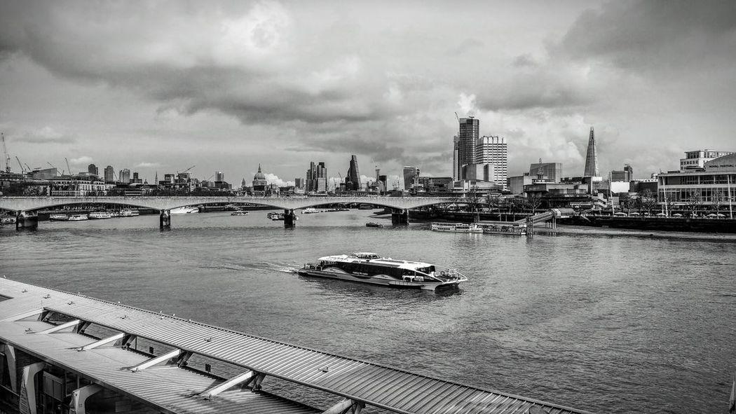 London London Black And White London 2017 Blackandwhite Black And White Boat River Thames